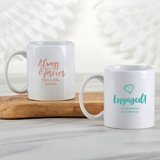 Kate Aspen Personalized White Ceramic Coffee Mug (Wedding Designs)