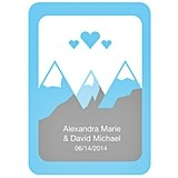 Personalized 12 Rectangle Stickers with Rounded Corners (75 Designs)