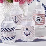 Kate Aspen Nautical Bridal Shower Personalized Water Bottle Labels