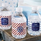 Kate Aspen Personalized Nautical Birthday Water Bottle Labels