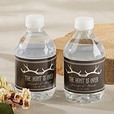 Kate Aspen Personalized 'The Hunt is Over' Water Bottle Labels