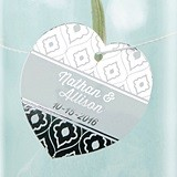 Kate Aspen Personalized Metallic Foil Heart Tags (3 Colors/Set of 36)