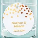 Kate Aspen Personalized Metallic Foil Circle Tags (3 Colors/Set of 36)