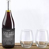 Kate Aspen Personalized Eat Drink Be Married Design Wine Bottle Labels