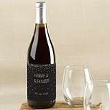 Kate Aspen Black & White Personalized Wine Bottle Labels (4 Designs)