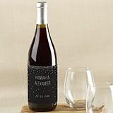 Kate Aspen Black & White Personalized Wine Bottle Labels (4 Designs)