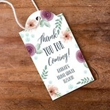Personalized Bridal Floral Statement Tags (2 Designs) (Set of 12)