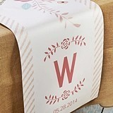 Kate Aspen Personalized Rustic Bridal Table Runner (3 Sizes)