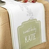 Kate Aspen Personalized Rustic Baby Shower Table Runner (3 Sizes)