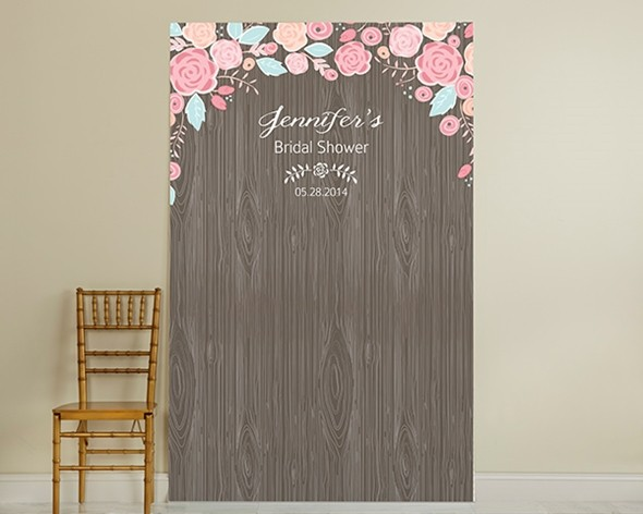 Kate Aspen Personalized Rustic Bridal Photo Booth Backdrop