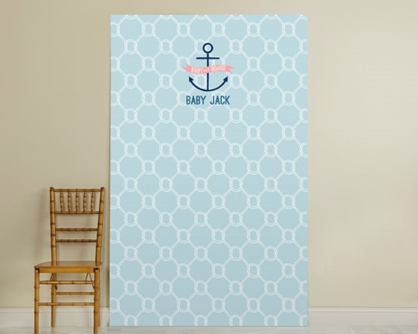Kate Aspen Personalized Nautical Baby Shower Photo Backdrop