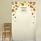 Kate Aspen Personalized Falling Leaves Design Autumnal Photo Backdrop