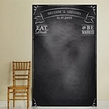 "Personalized ""Eat Drink and Be Married"" Photo Backdrop"