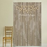 "Kate Aspen Personalized ""Just Hitched"" Rustic Photo Backdrop"