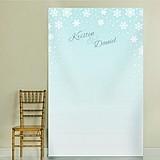Kate Aspen Personalized Winter Snowflake Motif Photo Backdrop