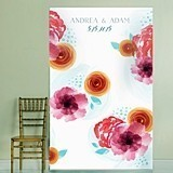Kate Aspen Personalized Botanical Floral Design Photo Backdrop