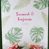 Kate Aspen Personalized Pineapples & Palms Motif Photo Backdrop