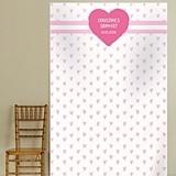 "Kate Aspen Personalized ""Sweet Heart"" Design Photo Backdrop"