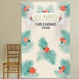 Kate Aspen Personalized Tropical Chic 'Just Married' Photo Backdrop