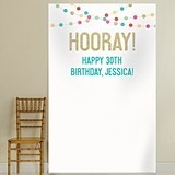 "Kate Aspen Personalized ""Hooray!"" Party Time Photo Backdrop"