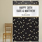 Kate Aspen Personalized Party Time Gold Confetti Design Photo Backdrop