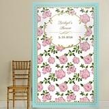 Kate Aspen Personalized 'Tea Time' Floral Design Photo Backdrop