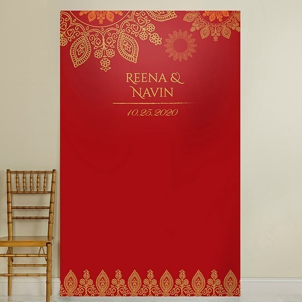 Kate Aspen Personalized Indian Jewel Ruby Red Photo Backdrop