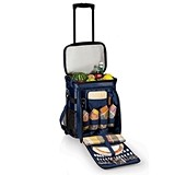"Navy Blue ""Avalanche"" Rolling Picnic Cooler by Picnic Time"