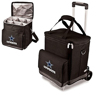 Officially-Licensed NFL Team Logo Cooler/Wine Cellar with Trolley