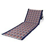 Picnic Time Beachcomber Beach Mat with Chevron Vibe Pattern