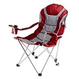 Steel-Frame Reclining Camp Chair by Picnic Time (4 Colors)