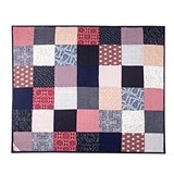 Patchwork-and-Denim Festival Blanket by Picnic Time