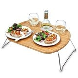 """Mesamio"" Bamboo-Wood Serving Tray"