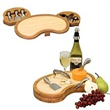 """Mariposa"" Two-Toned Bamboo-Wood Cheese Board"