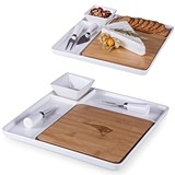 Officially-Licensed NFL Team Logo Peninsula Cutting Board Serving Tray