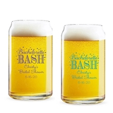 Personalized 'Bachelorette Bash' Design 16oz Beer Can-Shaped Glass