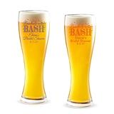 Personalized 'Bachelorette Bash' Bubbly Design 16oz Pilsner Beer Glass