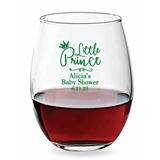 Personalized 15oz Little Prince Script Design Stemless Wine Glass