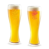 Personalized 'Live Laugh & Love' Design 16 ounce Pilsner Beer Glass