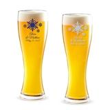 Personalized 'Winter Wonderland' Snowflakes 16oz Pilsner Beer Glass