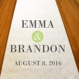 Personalized Ampersand Motif Aisle Runner (19 Colors)