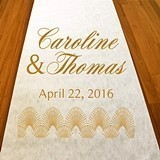 Personalized Art Deco Aisle Runner (19 Colors)