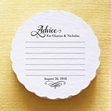 Personalized Advice Bride and Groom Scalloped Coasters (Set of 25)