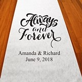 "Personalized ""Always and Forever"" Aisle Runner (19 Colors)"