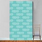Personalized Bride & Groom Names and Date Motif Photo Booth Backdrop