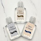 Personalized Chevron Stripes and Banner Hand Sanitizers (9 Colors)