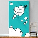 "Personalized ""Come Fly with Us"" Photo Booth Backdrop"