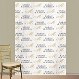 Personalized Classic Script Initial Photo Booth Backdrop