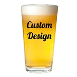 "Personalized ""Your Design and Text"" 16 ounce Pint Glasses"