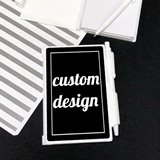 "Notebook Favor with Personalized ""Custom Design"" Sticker"